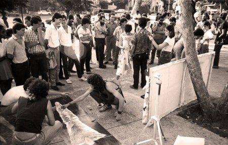 Juan-Si González / Grupo Arte-De (Arte & Derecho), Parque de G, La Habana, 1988