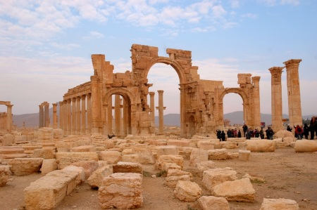 Palmyra, Syria, Gate of triumph, 2009